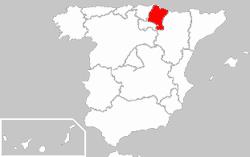 Carte de Navarre (Espagne)