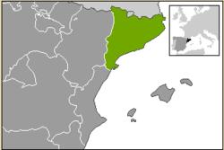 Carte de localisation de la Catalogne en Espagne