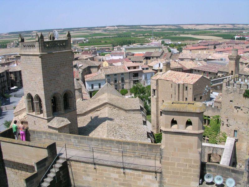 Photo prise depuis les tours du Palais médiéval d'Olite (Navarre)