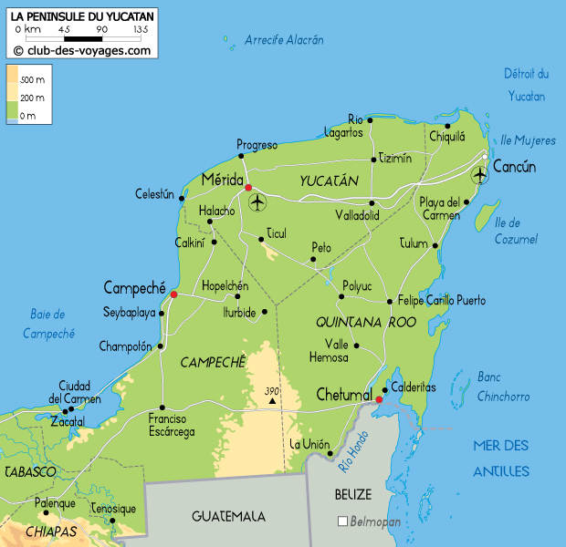 yucatan-carte-geographique