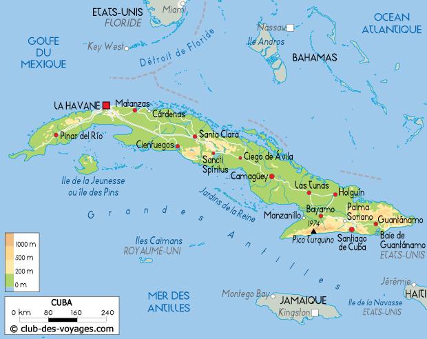 Carte Cuba Detaillee.Carte De Cuba Club Des Voyages
