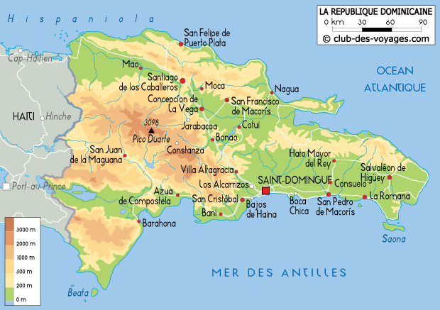 carte de la republique dominicaine