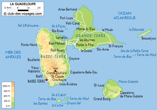 guadeloupe-carte-geographique - Photo