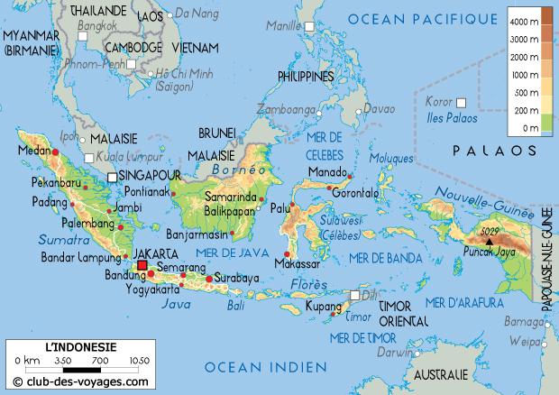 carte de l indonesie