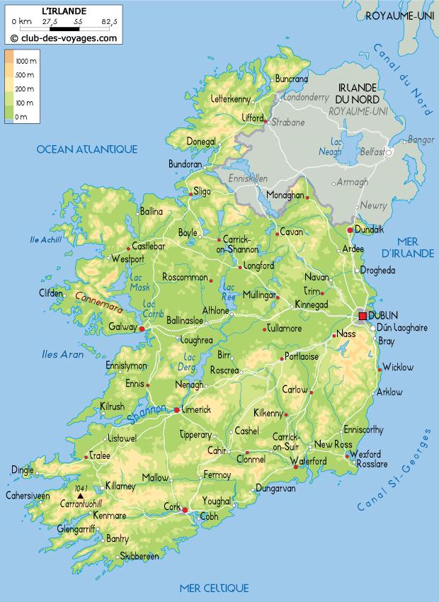 carte de l irlande