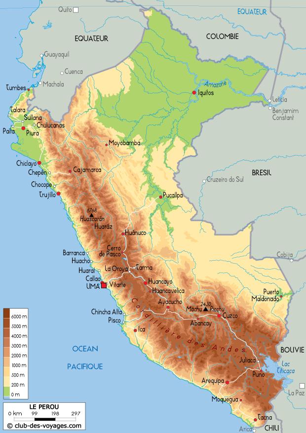 Super Carte du Pérou - Club des Voyages RW51