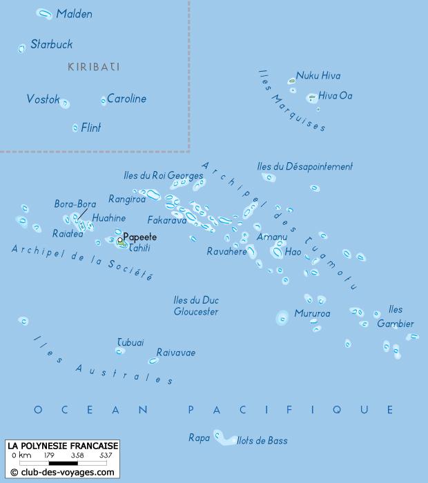 carte-de-polynesie - Photo