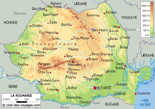 Carte Roumanie Villes.Carte De La Roumanie Club Des Voyages