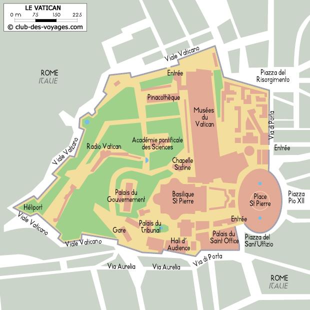 Carte Rome Vatican.Carte Du Vatican Club Des Voyages