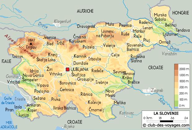 carte de la slovenie - Image