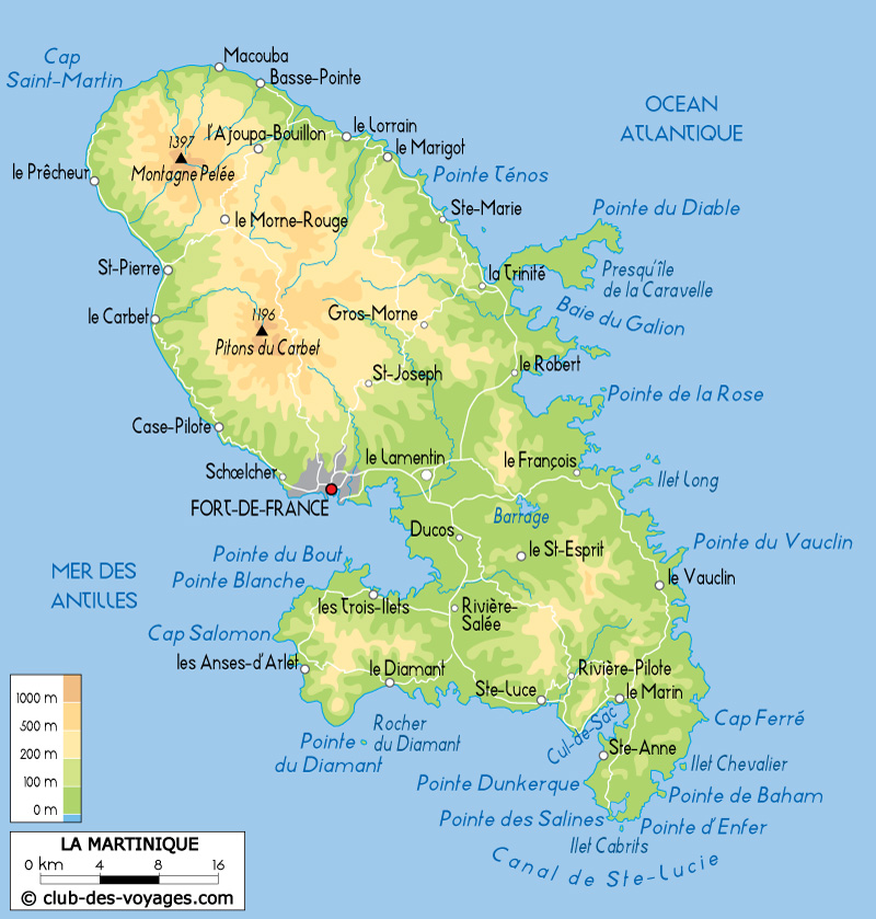 la martinique carte