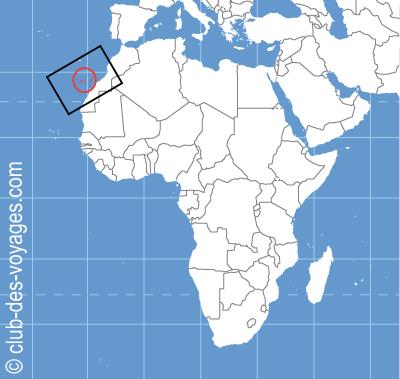 Situation géographique des îles Canaries   Club des Voyages