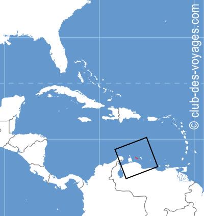 Situation géographique de Curaçao   Club des Voyages