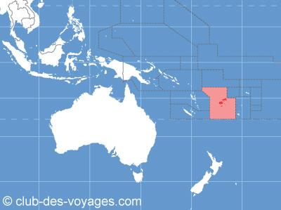 Situation géographique des iles Fidji   Club des Voyages