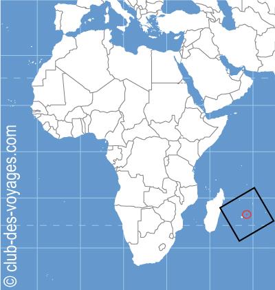 Situation géographique de l'ile Maurice   Club des Voyages
