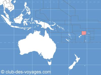 Situation géographique de Wallis et Futuna   Club des Voyages