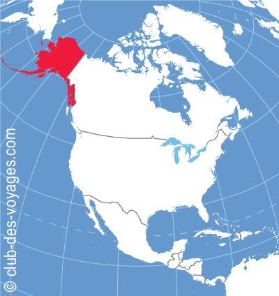 Situation géographique de l'Alaska   Club des Voyages