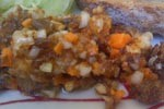 Entrée: Salade de harengs saurs