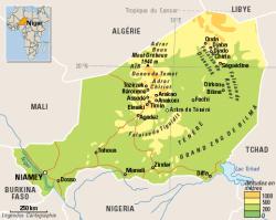 Cartes de l'Aïr et du Sahara