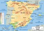 Carte géographique de l'Espagne