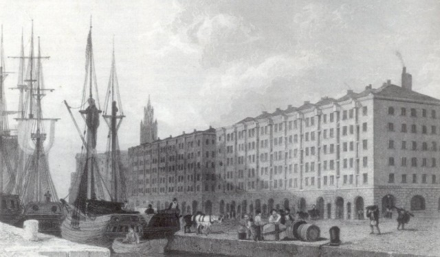 The Goree Warehouses, St. George's Dock 1829