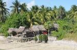 Huttes d'un village à Tarawa