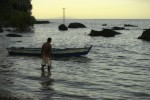 Pêcheur sur l'île d'Ovalau