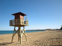 Poste de Vigile sur la plage de Vinaros