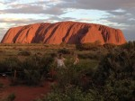 Rocher d'Uluru au coucher de soleil