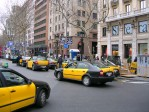 BARCELONE : photo de Barcelone - Taxis sur la Plaza de Cataluña
