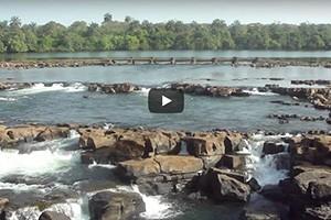 Les rapides du Rio Corubal à Saltinho